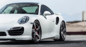 Porsche 991 Turbo S Center Lock Hre Rs102 21 Wheels Brushed Forged
