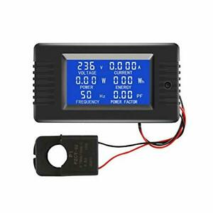 Ac Current Voltage Amperage Power Energy Panel Meter Lcd Digital Display Ammeter