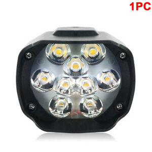 9 Led Motorcycle Headlight 27w 6000lm Driving Fog Lamp Light For Suv Offroad Car