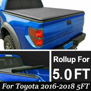 Soft Lock Roll Up Tonneau Cover For 2016 2019 Toyota Tacoma 5ft 60 Short Bed