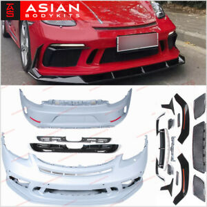 Body Kit For Porsche 718 Boxster Cayman 982 Front Bumper Rear Diffuser 2016