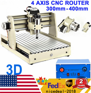 Cnc 4 Axis 3040t Router Engraver Engraving Milling Machine Drill Drilling 3d