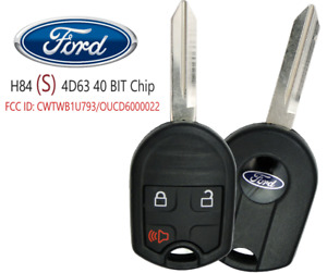 New Ford Remote Key 3 Button Oucd6000022 Cwtwb1u793 4d63 40 Bit S Oem Chip