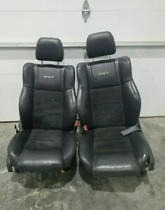 2006 2010 Jeep Grand Cherokee Srt 8 Front Seat Set Leather Suede Black Lh Rh