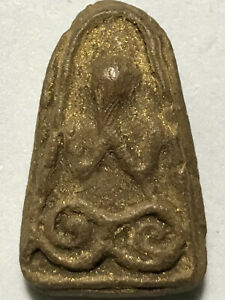 Phra Pidta Lp Boon Rare Old Thai Buddha Amulet Pendant Magic Ancient Idol 584