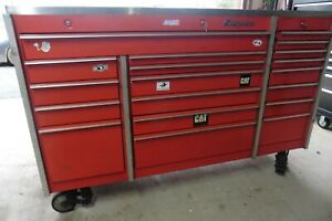 Snap On Tool Chest Box Casters Commercial 19 Drawers 72 X 48 X 28 W Locks