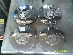 92 99 Cadillac Deville 7 Chrome Wheel Center Cap 03543663 Set Of 4 93 94 95 97
