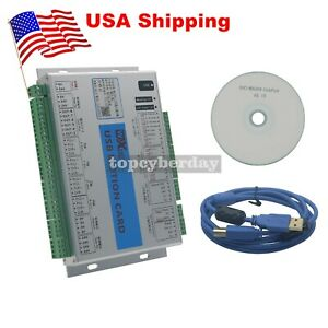Mach4 Cnc 4 Axis Motion Control Card Board With Usb Cable For Machine Centre us