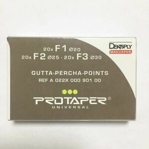 2x Dentsply Protaper Univeral Obturation Gutta Percha Points F1 To F3 Gp Free