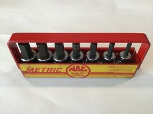 Mac Tools 7 Piece 3 8 Drive Short Hex Socket Bit Set W Holder 4 10mm Free Ship