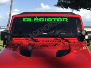 30 Gladiator Windshield Decal Sticker For Fans Of Rubicon Jeep Pickup Truck 4x4