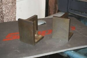 2pc Precision Right Angle Hardened Block Plates 4 X 3 X 2 7 8 Shop Made