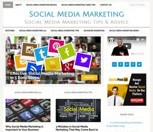 Social Media Marketing Blog Website Business For Sale W Auto Updating