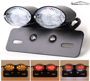 Motorcycle Tail Light Led Integrated Turn Signal Brake Indicator License Plate