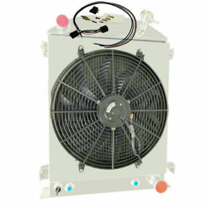 3 Row Radiator Shroud Fan For 1930 1931 Ford High Boy Coupe Chevy V8
