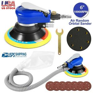 6 Air Body Random Orbital Palm Sander Sanding With 7 Disc Sandpaper 150mm Auto