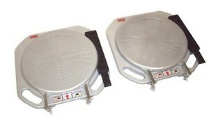 Rand Aluminum Wheel Alignment Turntables Plates Turn Tables Pads Car Caster