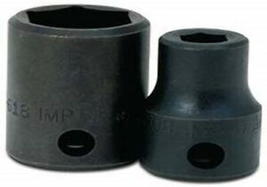 3 8 Drive Shallow Impact Sockets 6 Point Sae Black Finish Williams