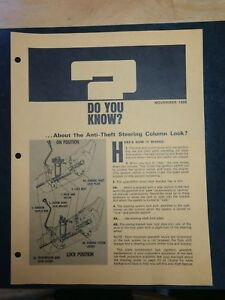 Vintage Chevrolet Salesman S Fact Sheet Dyk November 1968 11 9 Chevy