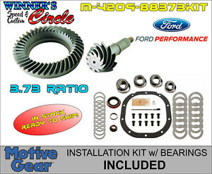 Ford Racing M 4209 88373 8 8 3 73 Ring Pinion Gears W Install Kit R8 8rmkt