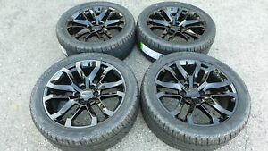 22 Black Chevy Silverado Tahoe Suburban Gmc Sierra Wheels Rims Tires 2019 2020