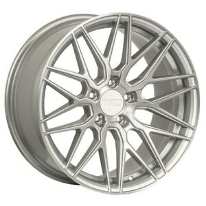 Set Of Four New F1r Wheels Rims F103 20x10 0 5x114 38 Brushed Silver