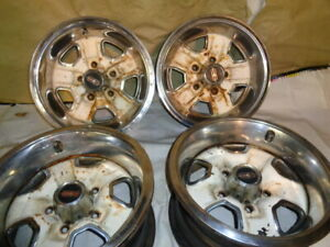 1972 77 Oldsmobile Olds Cutlass 14x7 Rally Ii Wheels Center Caps And Trim Ring
