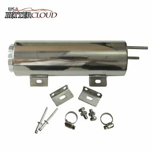 3 X 10 32 Oz Polished Stainless Steel Radiator Coolant Overflow Puke Tank Can