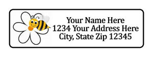 800 Bee Flower Personalized Return Address Labels 1 2 Inch By 1 3 4 Inch