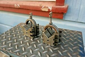 V Blocks And Clamps hardened shop Made toolmaker tooling 2 1 2 l X 2 3 4 w X 2 h