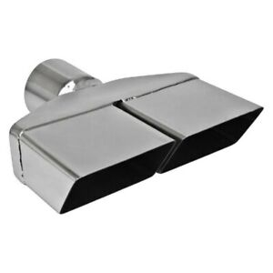 Exhaust Tip Hi Polished Series Stainless Steel Square Angle Cut Dual Exhaust Tip