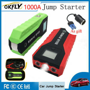 1000a 12v Car Jump Starter Starting Cables Device Portable Power Bank Jumpers