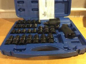 Cornwell Bluepower 1 2 Drive Impact Wrench Kit With 25 Pc 6 Pt Metric Sockets