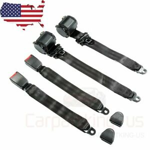 2 Universal 3 Point Retractable Seat Belts Fit For Jeep Cj Yj Wrangler 1982 1995