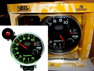 Autometer 3899 Gs 5 Monster Tachometer Gauge W shift Light Pedestal 10k Rpm