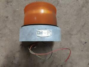 Tested D m Distributors Strobe Emergency Light Beacon 12v Snow Plow Amber Safety