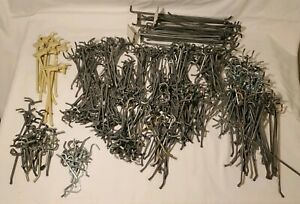 Peg Board Pegboard Hooks Varying Sizes Lot Of Approx 300 Used