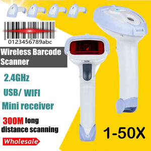 Us 2 4g Wireless Wifi Laser Usb Barcode Scanner Reader For Pos Inventory Ds4308