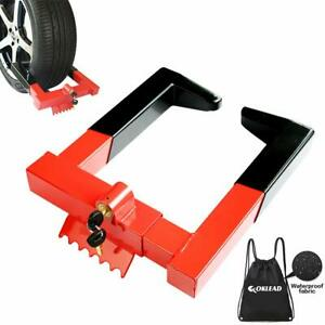 Oklead Anti Theft Trailer Wheel Lock Clamp Security Tire Claw Boot For Golf Ca