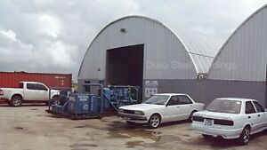 Durospan Steel 51x100x17 Metal Quonset Building Kits Closed Ends Factory Direct