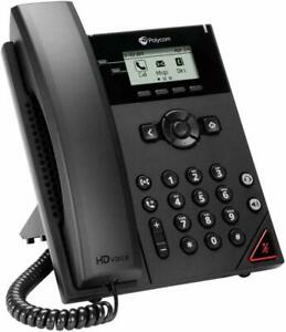 Polycom 150 Voip Phone Corded Corded Desktop Wall Mountable set Of 2