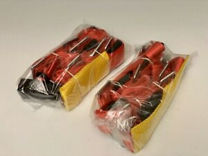Pair Of 2 Red Drift Track 4 Point Harness Racing Seat Belt Quick Snap Eye Bolt