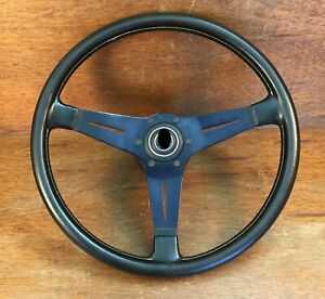 Vintage Nardi Black Leather Steering Wheel Prototipo Typ Solid Porsche Hub Dated