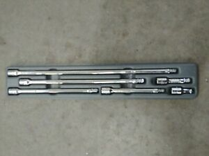 Snap On 6 Piece 1 4 Drive Wobble Plus Extension Set Like New Condition Tray