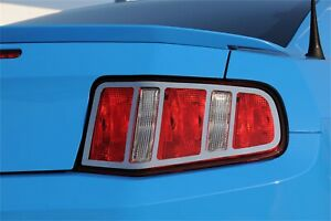 For 2010 2012 Ford Mustang Polished Stainless Steel Tail Light Cover Trim