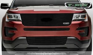 For 2016 2017 Ford Explorer Black Aluminum Grille