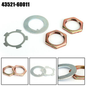 Front Axle Hub Spindle Lock Nut Washer Kit 43521 60011 For Toyota Hiluxs A7