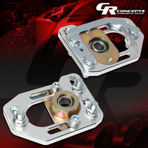 Pair Aluminum Front Adjustable Camber caster Plates Kit For 79 89 Ford Mustang