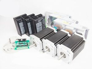 3axis Nema 34 Stepper Motor 1700 Oz in 150mm 6a 6a High Torque drivers Power
