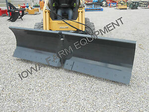 10 Skidsteer Snow Plow all in one v blade pusher angle Blade back Drag tripedg